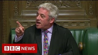 Brexit: House of Commons Speaker refuses vote on Brexit deal- BBC News
