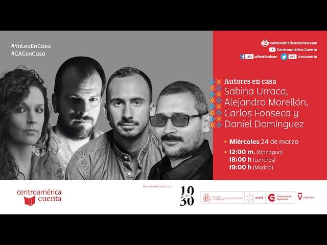 Autores en casa #99 | Sabina Urraca, Carlos Fonseca y Alejandro Morellón con Daniel Domínguez