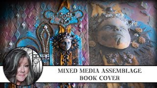 Mixed Media Assemblage Book Cover 💗 🌟💗