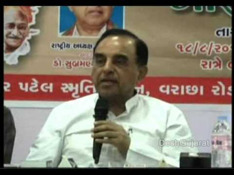 Dr. Subramanian Swamy interacts with the media persons in Surat, Gujarat