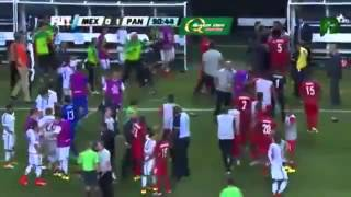 Panama vs Mexico 2 1   Turns to the FIGHT   Gold Cup 2015
