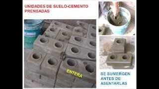 Ensayo sísmico de un módulo hecho con unidades suelo-cemento prensadas