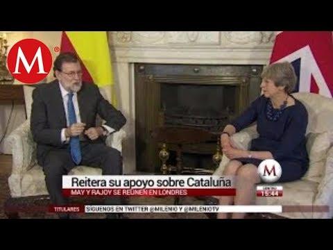 Theresa May y Mariano Rajoy almuerzan juntos en Londres