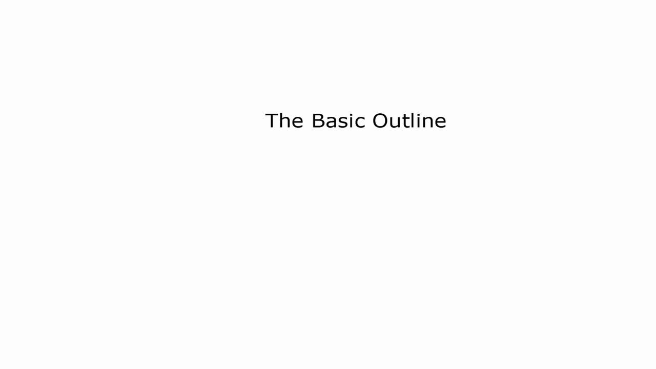 how to write a basic outline YouTube