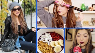 MY MORNING ROUTINE! Spring Makeup, Hair, Outfit & Healthy Breakfast! | Amelia Liana | AD