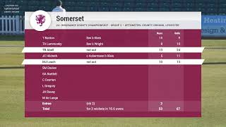 Leicestershire v Somerset - LV=CC Day 1