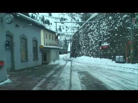 Travelling the St Gotthard pass,  December 2008, 3min