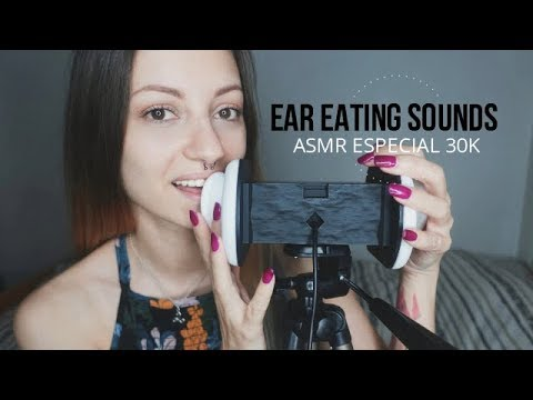 ASMR Ear Eating Sounds #2 / Especial 30k (ENG-SUB)  Nadira ASMR