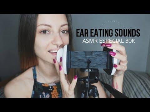 ASMR Ear Eating Sounds #2 / Especial 30k (ENG-SUB)  Nadira ASMR