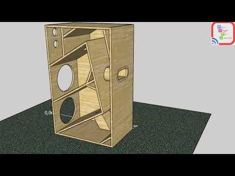 Speaker Woofer box 8 inc full bass design