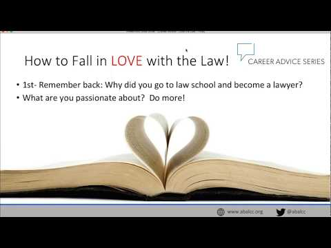 Career Advice Series: How to Fall Back In Love With The Law Practice!