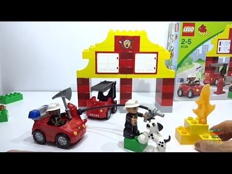 Lego Duplo 6138 My First Fire Station Unboxing Play Along 1080p