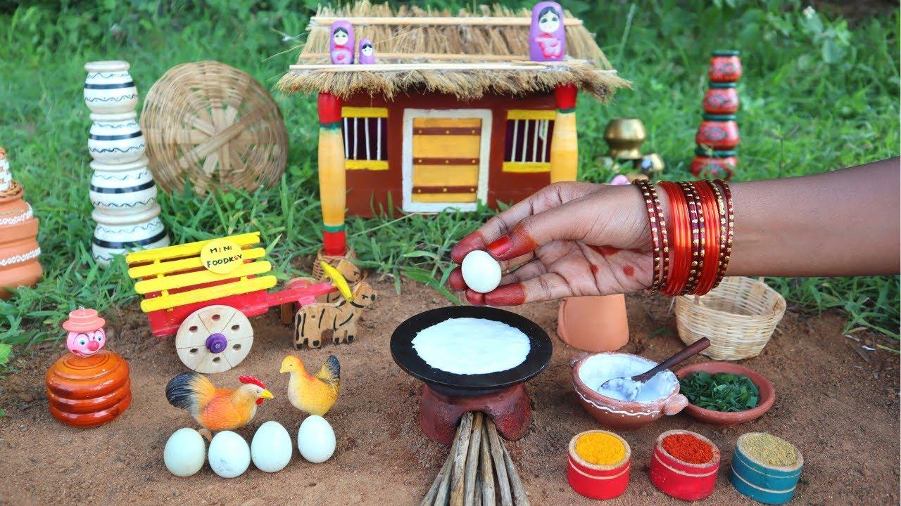 Miniature Egg Dosa + Egg Gravy | Egg recipe | Mini Foodkey