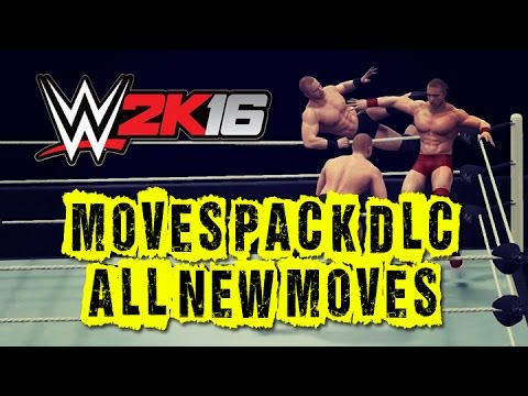 WWE 2K16 Moves Pack DLC! All New Moves!