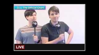 Album chart reading by Danisnotonfire & AmazingPhil 14/7/2013