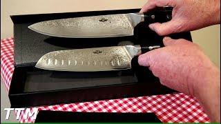 Kitchen Emperor Damascus Steel Santoku Knife Review