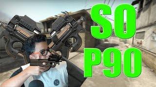 JOGANDO SO DE P90 NO COMPETITIVO - CS GO