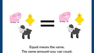 Equal means the same