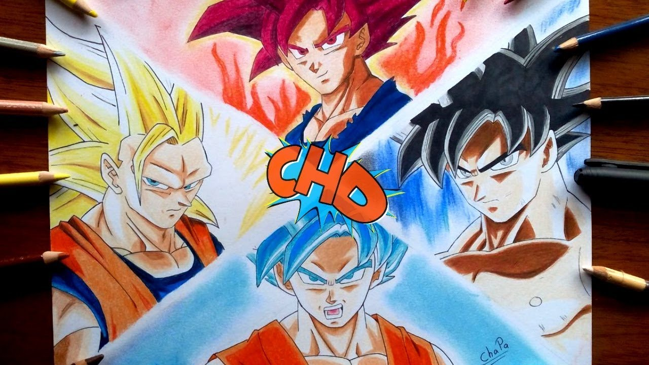 Dibujo Fases De Goku Ultra Instinto Ssj3 Dios Blue Drawing Goku