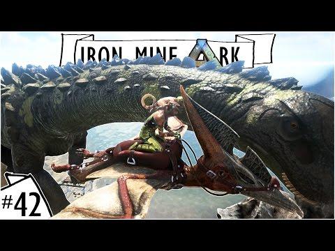 Kiting A Titanosaur :: Leading a Titano Away From My Base :: Iron Mine Ark Ep. 42 :: UniteTheClans