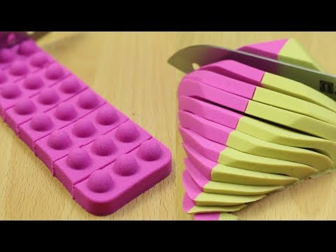 Very Satisfying Kinetic Sand Cutting combination