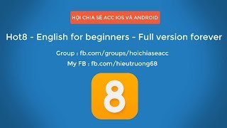 Download - Review Hot8 - English for beginners - Full version forever - full in app