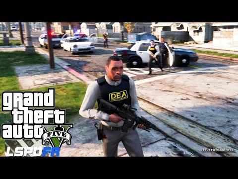 GTA 5 LSPDFR EPiSODE 102 - LET'S BE COPS - DEA PATROL (GTA 5 PC POLICE MODS) UNMARKED CHARGER