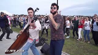 Музыкальный Рок флешмоб ГОРОДСКОЙ ПИКНИК ПИР НА ВОЛГЕ 2019 ROCKNMOB rockmusic flashmob from Russia