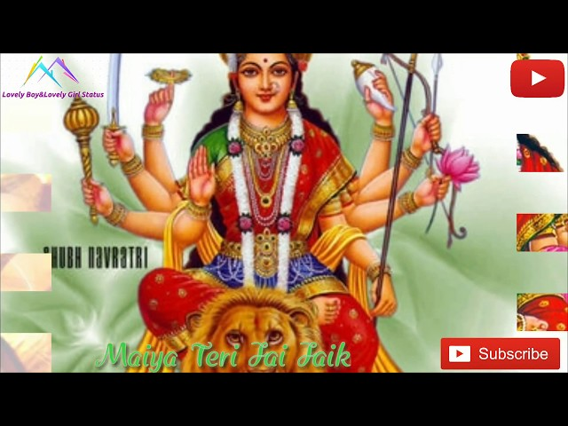 Latest Lyrics Status Navaratri Maiya Teri Jai Jaikaar by Arijit Singh Lovely Boy&Lovely Girl Status