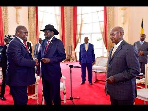 Museveni's face-to-face meeting between South Sudan rivals _ Salva Kiir & Riek Machar