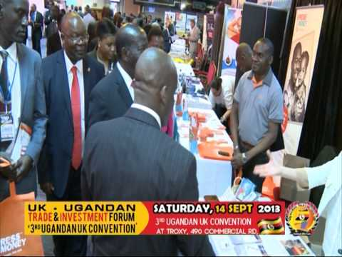 Vice Presidentof Uganda at Express Money Stand at the Convention UK 2013
