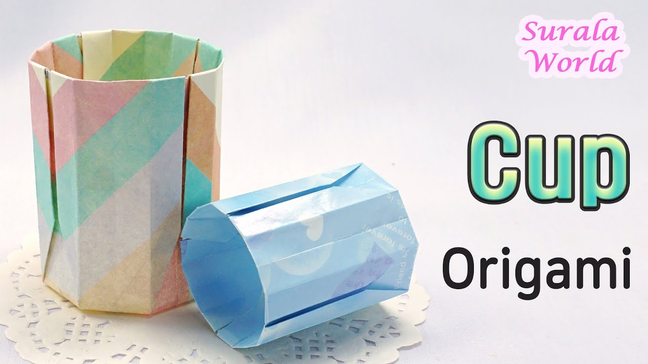 Cup Origami How To Make A Paper Tutorial Diy You
