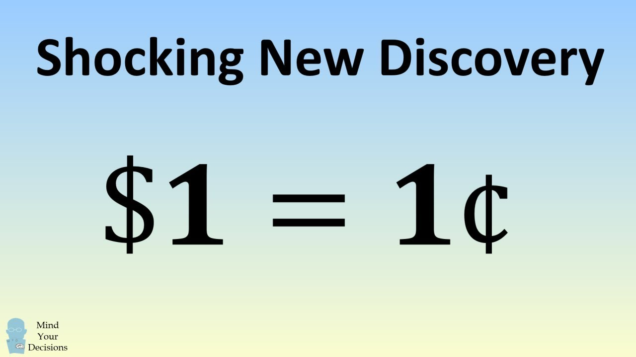 Shocking Discovery A Dollar Equals A Cent 1 1 C2 A2