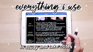Everything I use to study and take notes (2020) - iPad apps & accessories