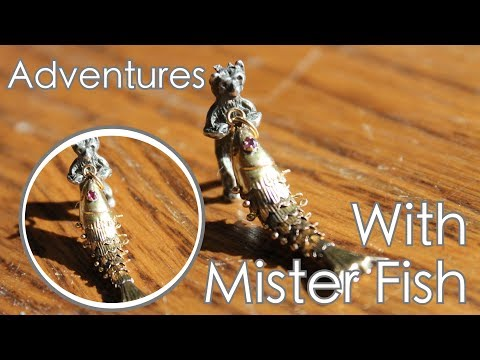 Adventures With Mr Fish - The 14 Karat Gold Articulated Charm
