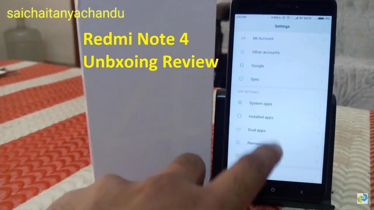 Redmi Note 4 Unboxing: Redmi Note 4 Unboxing Review