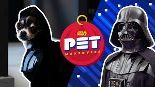 Turning a Chihuahua Into Darth Vader | Star Wars Pet Makeovers by Oh My Disney