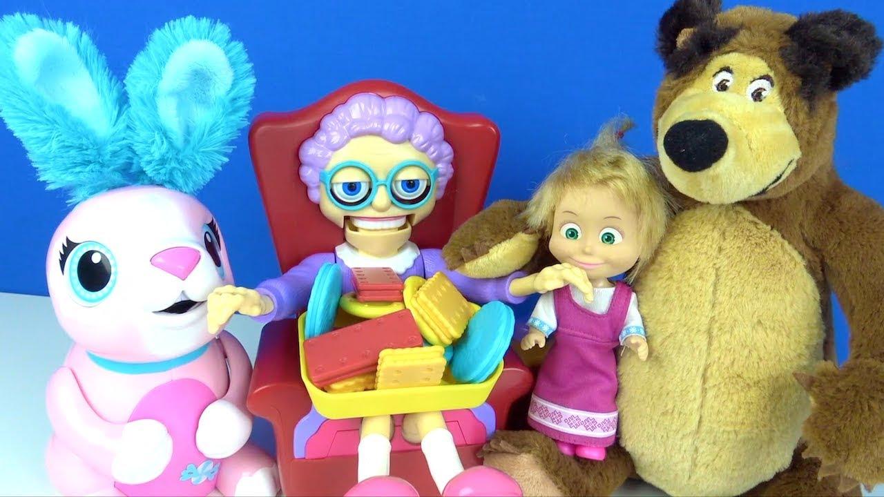 Maşa ile Koca Ayının Doymayan Tavşanı Cingöz Ninenin kurabiyelerini yedi Learn Colors With Cookies