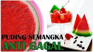 Puding Semangka Pake Cetakan Mangkok   Watermelon Pudding Tutorial