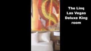 The Linq Las Vegas - Deluxe king room tour