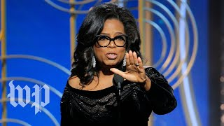 From youtube.com: Oprah Winfrey's Golden Globes speech {MID-226345}