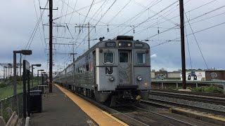 nj transit hd 60 fps northeast corridor line ge arrow iii emu trains terminating jersey avenue