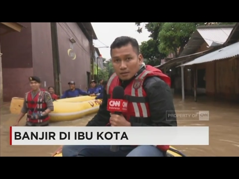 Menyusuri Banjir di Cipinang Melayu, Jakarta