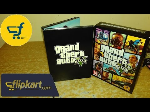 GTA V PC (7 DVDs) Unboxing from flipkart India