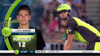 bbl 2016 17 match 8 sydney thunder vs brisbane heat full highlights