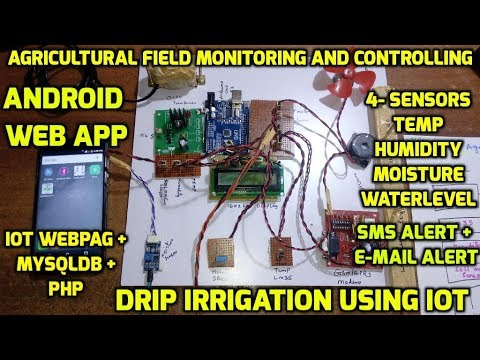 Agricultural Field Monitoring and Controlling of Drip Irrigation using IOT