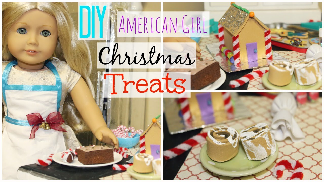 DIY AG FOOD | American Girl Christmas Desserts & Treats! - YouTube