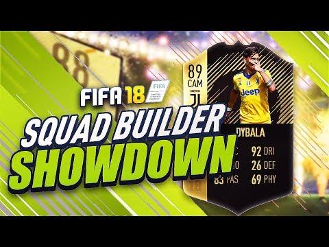 FIFA 18 THE CRAZIEST SQUAD BUILDER SHOWDOWN!! INFORM DYBALA!!