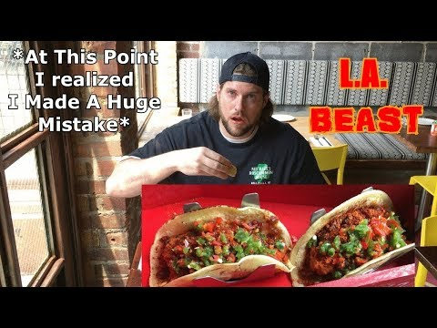 The Reaper Taco Challenge (WARNING: SPICY) | Gringo's Tacos – Jersey City, NJ | L.A. BEAST