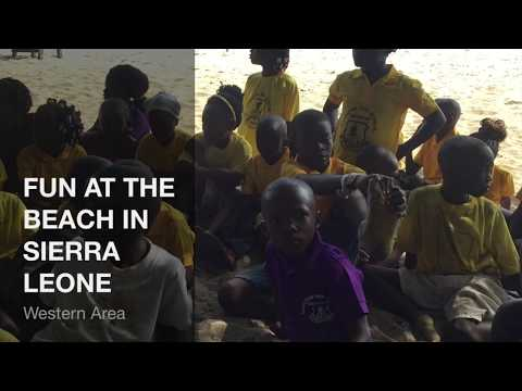 SATA WURIE FUN TIMES AT THE BEACH IN SIERRA LEONE WITH KIDS